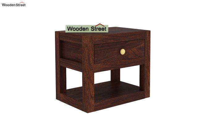 Walken Bedside Table (Walnut Finish)-4