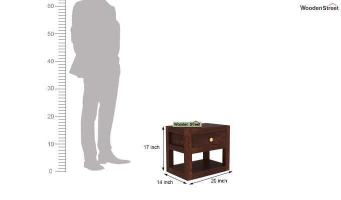 Walken Bedside Table (Walnut Finish)-6
