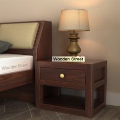 Walken Bedside Table (Walnut Finish)