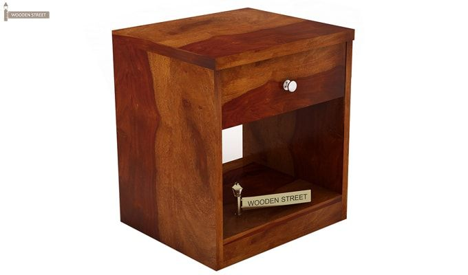 Welker Bedside Table (Honey Finish)-2