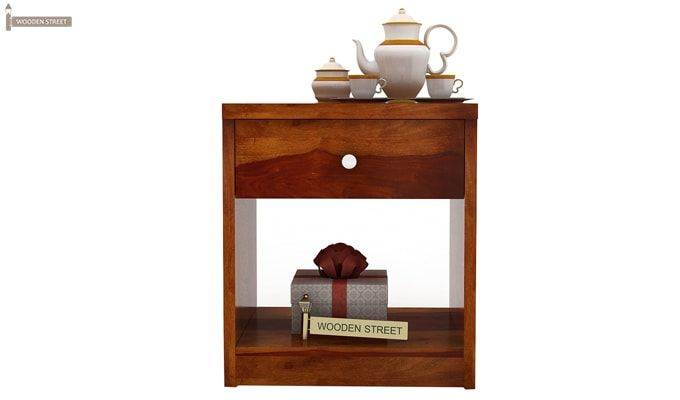 Welker Bedside Table (Honey Finish)-3