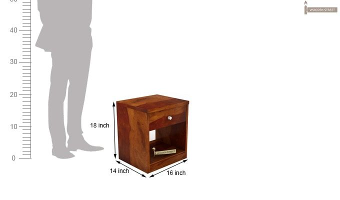 Welker Bedside Table (Honey Finish)-4