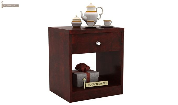 Welker Bedside Table (Mahogany Finish)-1