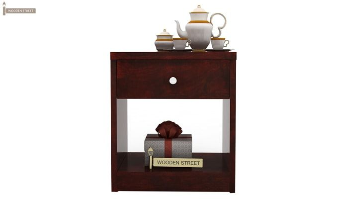 Welker Bedside Table (Mahogany Finish)-3