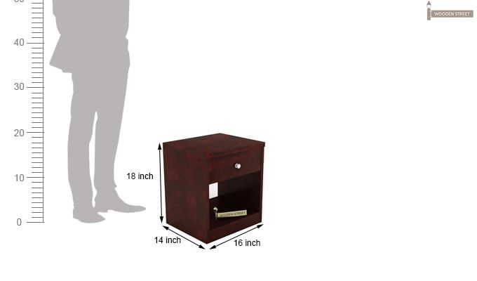 Welker Bedside Table (Mahogany Finish)-4