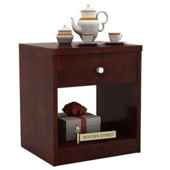 Welker Bedside Table (Mahogany Finish)