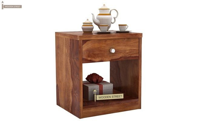 Welker Bedside Table (Teak Finish)-1