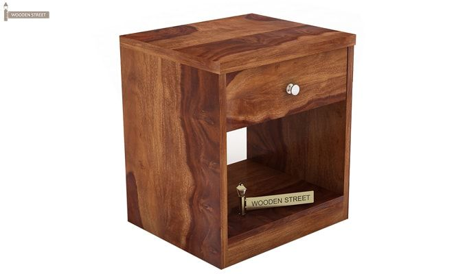 Welker Bedside Table (Teak Finish)-2