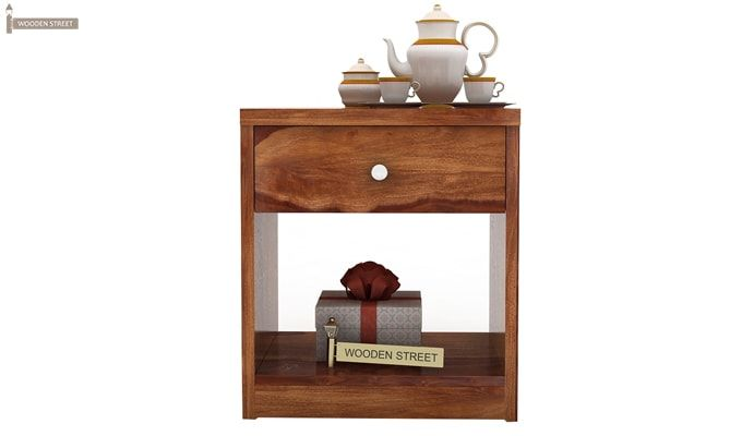 Welker Bedside Table (Teak Finish)-3