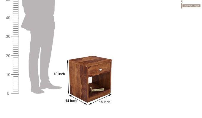 Welker Bedside Table (Teak Finish)-4
