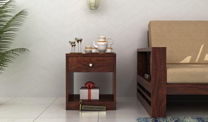 Welker Bedside Table (Walnut Finish)-1