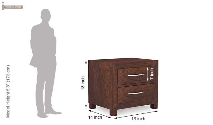 Weston Bedside Table (Walnut Finish)-8