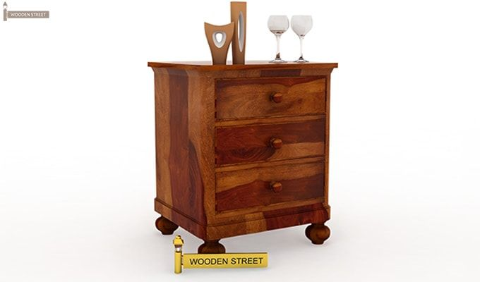 Willock Bedside Table (Honey Finish)-1