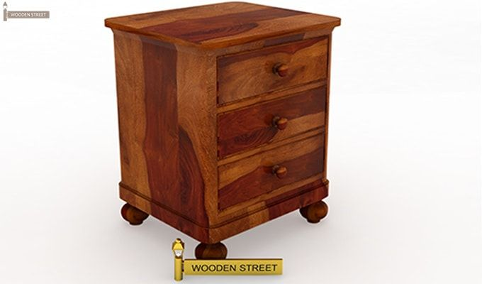 Willock Bedside Table (Honey Finish)-2