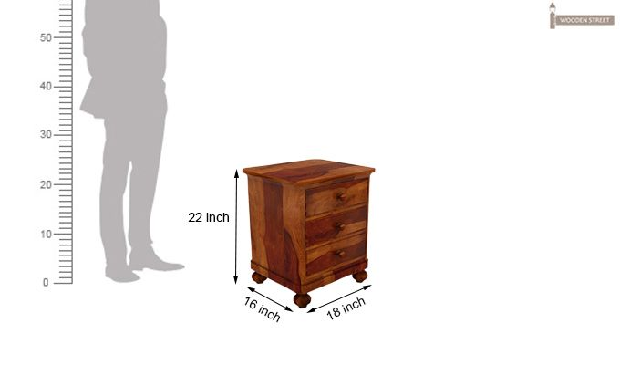 Willock Bedside Table (Honey Finish)-5