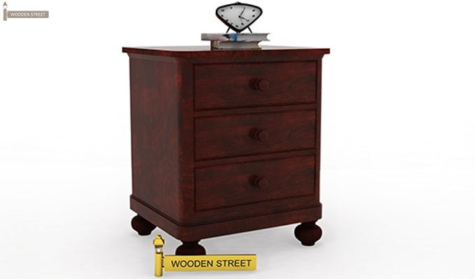 Willock Bedside Table (Mahogany Finish)-2