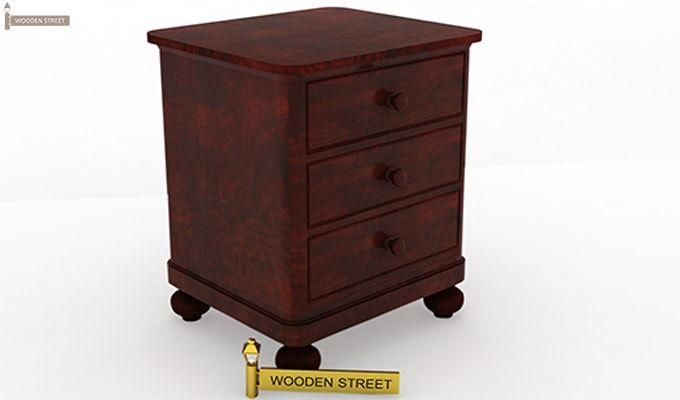 Willock Bedside Table (Mahogany Finish)-3