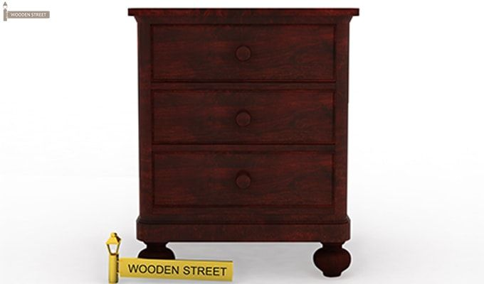 Willock Bedside Table (Mahogany Finish)-4