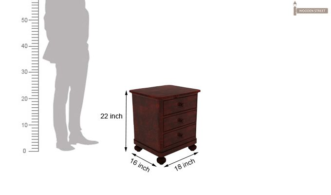 Willock Bedside Table (Mahogany Finish)-6