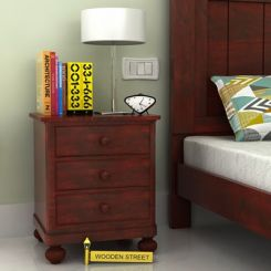 Willock Bedside Table (Mahogany Finish)