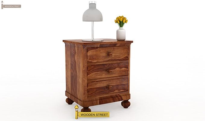 Willock Bedside Table (Teak Finish)-1