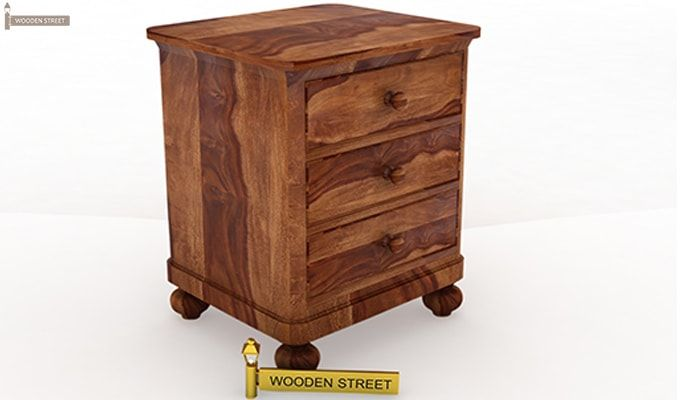 Willock Bedside Table (Teak Finish)-2