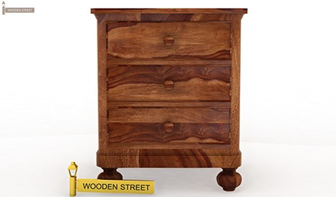 Willock Bedside Table (Teak Finish)-3