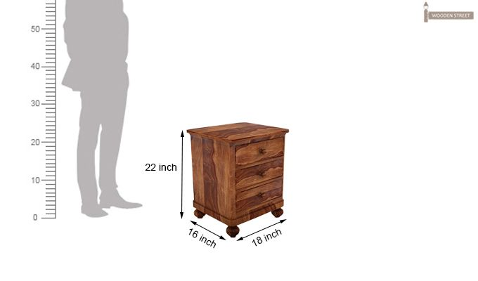 Willock Bedside Table (Teak Finish)-5