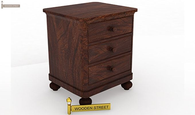 Willock Bedside Table (Walnut Finish)-2
