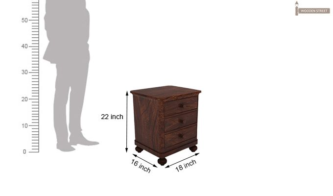 Willock Bedside Table (Walnut Finish)-5