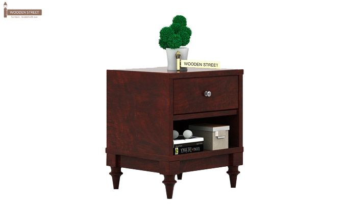 Winston Bedside Table (Mahogany Finish)-2