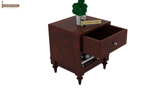 Winston Bedside Table (Mahogany Finish)-4