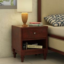Winston Bedside Table (Mahogany Finish)