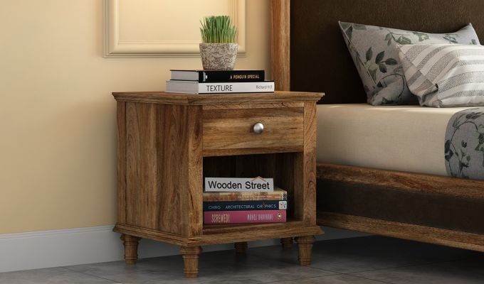 Winston Bedside Table (Natural Finish)-1