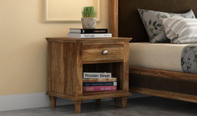 Winston Bedside Table (Natural Finish)-1