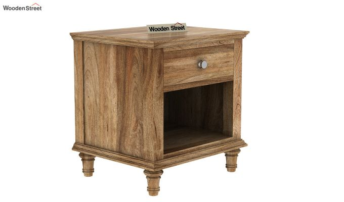 Winston Bedside Table (Natural Finish)-2