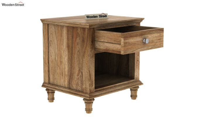 Winston Bedside Table (Natural Finish)-3