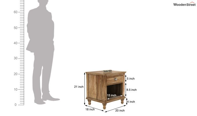 Winston Bedside Table (Natural Finish)-4
