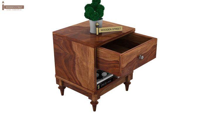 Winston Bedside Table (Teak Finish)-3