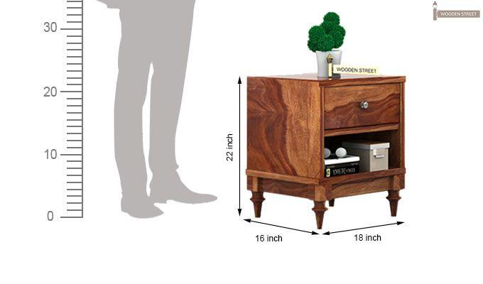 Winston Bedside Table (Teak Finish)-4