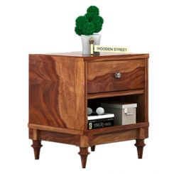 Winston Bedside Table (Teak Finish)