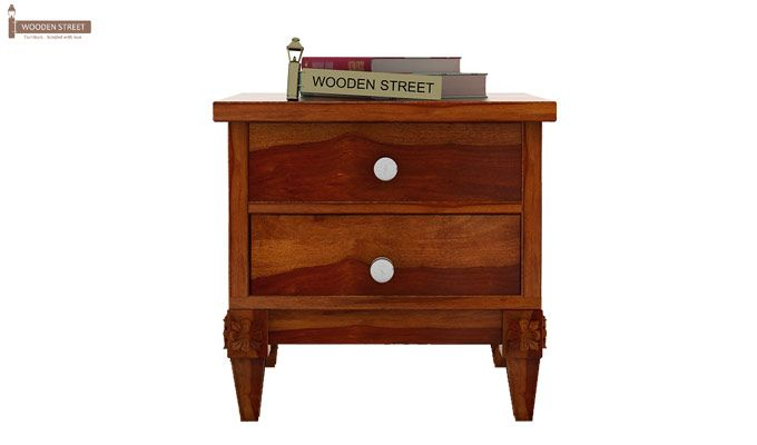 Wopper Bedside Table (Honey Finish)-2