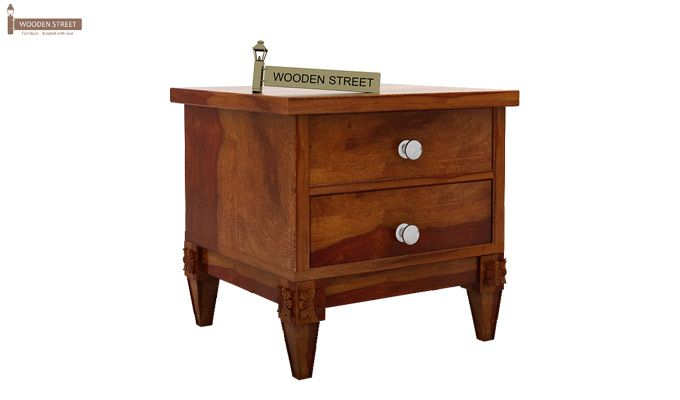 Wopper Bedside Table (Honey Finish)-3