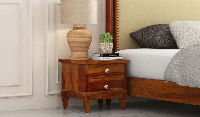 Wopper Bedside Table (Honey Finish)-1