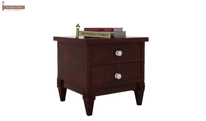Wopper Bedside Table (Mahogany Finish)-2