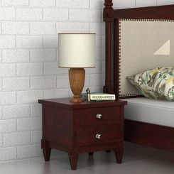 Wopper Bedside Table (Mahogany Finish)