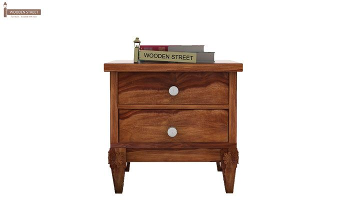 Wopper Bedside Table (Teak Finish)-2