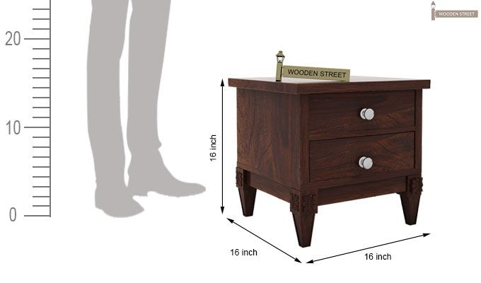 Wopper Bedside Table (Walnut Finish)-4