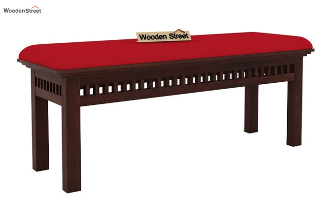 Adolph Bench (Walnut Finish, Dusky Rose)-2