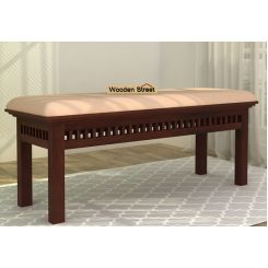Adolph Bench (Walnut Finish, Irish Cream)